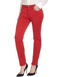 Burberry Brit Military Red Stretch Cotton Foxton Skinny Pants - Lyst