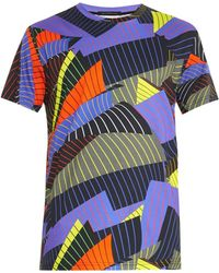 Christopher Kane Striped Paper-Print T-Shirt - Lyst