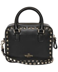 Valentino Rockstud Leather Shoulder Bag - Lyst