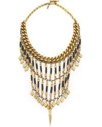Vanessa Mooney The Midnight Statement Necklace - Antique Bronze/Black - Lyst