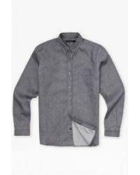 French Connection Aragon Denim Pocket Shirt - Lyst
