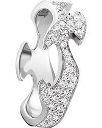 Georg Jensen | Fusion 18ct White-gold And Diamond Ring | Lyst