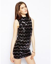 Oh My Love High Neck Sequin Dress - Lyst