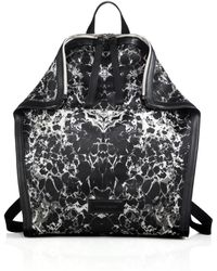 Alexander McQueen | De Manta Printed Satin & Leather Backpack | Lyst