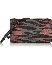 McQ by Alexander McQueen Concertina Printed Faux Leather Shoulder Bag - Lyst