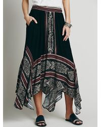 Free People Mischief Magic Print Maxi black - Lyst