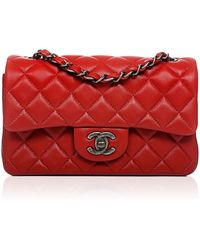 ffcc0e0c83c7 Madison Avenue Couture - Chanel Red Quilted Lambskin Small Classic 2.55  Shoulder Flap Bag - Lyst