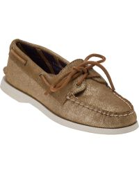Sperry Top-Sider Authentic Original 2 Eye Sand Metallic Suede - Lyst