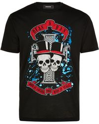 DSquared² Skull Band T-Shirt black - Lyst