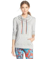 Pink Lotus - 'ready To Go' Shirred Back Hoodie - Lyst