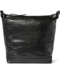 Balenciaga Creased-Leather Bag - Lyst