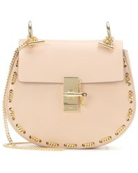 Chloé Drew Embellished Leather Shoulder Bag - Lyst