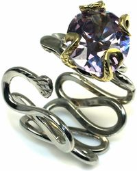 Sibilla G Jewelry Sibilla G Cool Jazz Lavender Cubic Zirconia Ring - Lyst