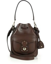 Ralph Lauren | Ricky Small Leather Bucket Bag | Lyst
