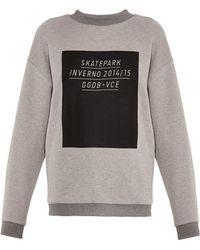 Golden Goose Deluxe Brand Gray Slogan-print Sweatshirt - Lyst