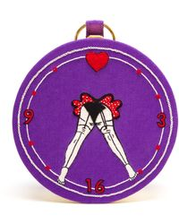 Olympia Le-Tan Russian Roulette Circular Clutch - Lyst
