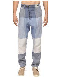 Vivienne Westwood Man Oversize Check Linen Alcoholic Trouser - Lyst