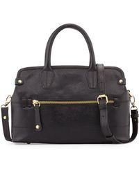 orYANY Lyla Saffiano Leather Frame Satchel black - Lyst