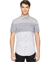 Calvin Klein Jeans End-On-End Colorblocked Shirt - Lyst