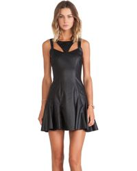 Jay Godfrey Black Stewart Dress - Lyst
