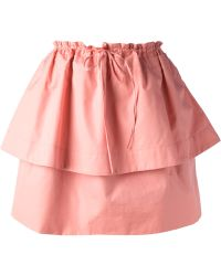 See By Chloé Tiered Skirt - Lyst