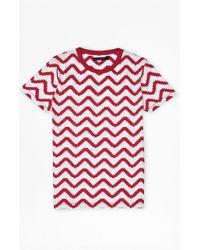 French Connection Geo Herringbone Print T-Shirt - Lyst