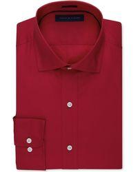 Tommy Hilfiger Solid Poplin Dress Shirt - Lyst