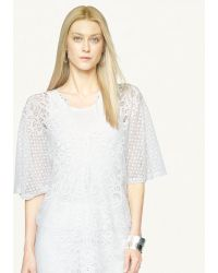 Ralph Lauren Black Label Cotton Lace Lauren Tunic - Lyst