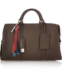 Fendi   Boston Textured-leather Weekend Bag   Lyst