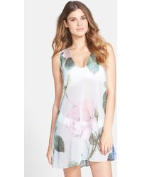 Ted Baker Women'S 'Distinguished Rose' Cover-Up Dress - Lyst