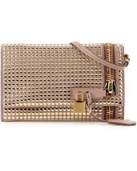 Tom Ford Alix Small Studded Zip & Padlock Crossbody Bag - Lyst