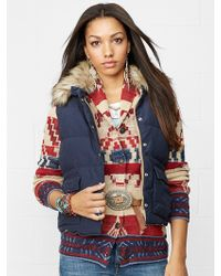 Denim & Supply Ralph Lauren Faux-fur-trimmed Down Vest - Lyst
