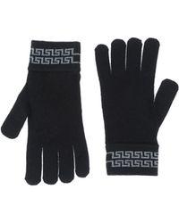 Versace Gloves gray - Lyst