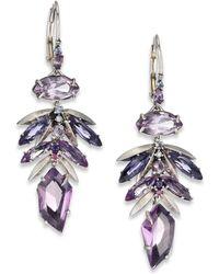 Alexis Bittar Fine - Amethyst Leaf Cluster Drop Earrings - Lyst