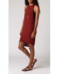 Azalea Tarids Low Side Tunic red - Lyst