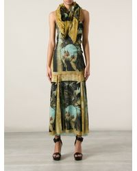 Jean Paul Gaultier - Abstract Print Skirt Suit with Scarf - Lyst