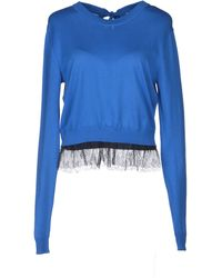 Peter Som Fringed-Hem Cotton Sweater - Lyst