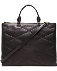 Lanvin Quilted Lambskin Sugar Day Bag - Lyst