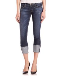 Hudson | Muse Rolled Cropped Jeans | Lyst