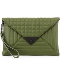 L.a.m.b. Ebba Quilted Leather Envelope Clutch - Lyst