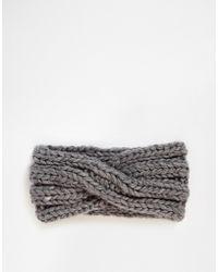 Asos Wool Mix Turban Headband - Lyst