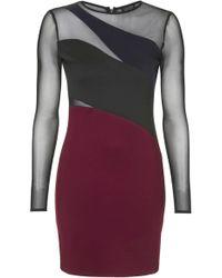 Topshop Colour-block Spliced Bodycon Dress - Lyst