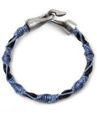 Lulu Frost G Frost Ladder Harpoon Bracelet  Navyblk - Lyst