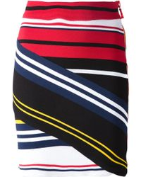 Preen Striped Fitted Skirt multicolor - Lyst