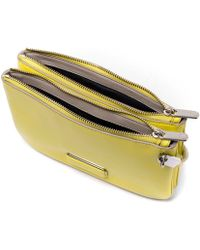 Marc By Marc Jacobs - Yellow Ligero Double Percy Leather Cross-body Bag - Lyst