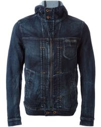Diesel Hooded Denim Jacket - Lyst