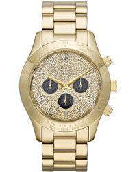Michael Kors Ladies Layton Chronograph Glitz Watch - Lyst