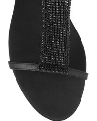 Burberry Prorsum - Chainmail Embellished Leather Sandals - Lyst