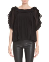 Alice By Temperley Rose Pleated Drape Top - Lyst