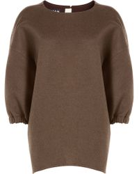 Rochas | Wool And Angora Pullover - Brown | Lyst